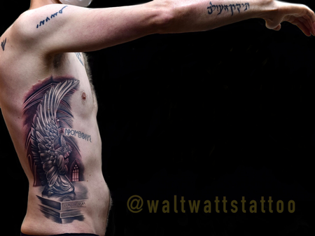 Tattoos - Walt Watts Praying Angel - 142131